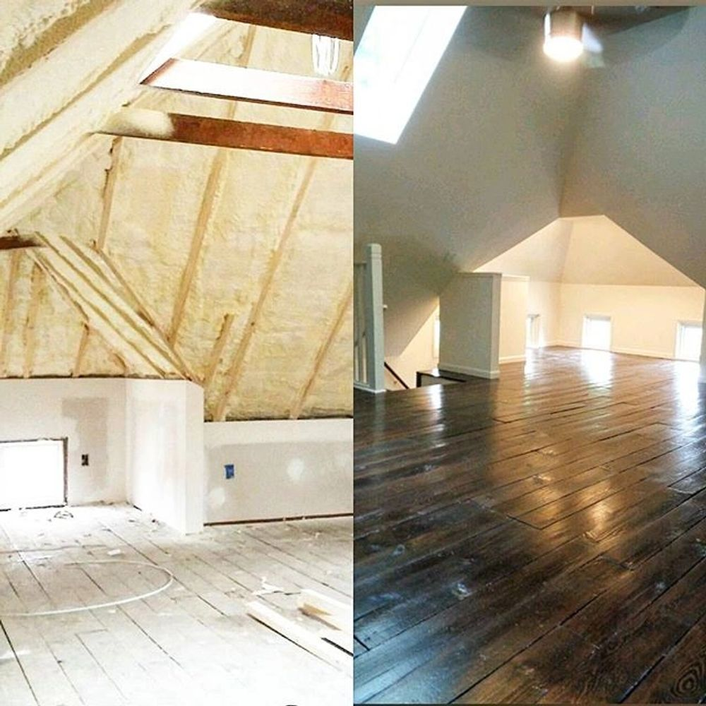 Attic Before and After